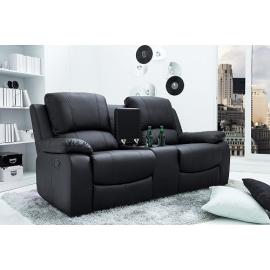 Fotel kinowy 2- osobowy HALL OF FAME czarny / 38322