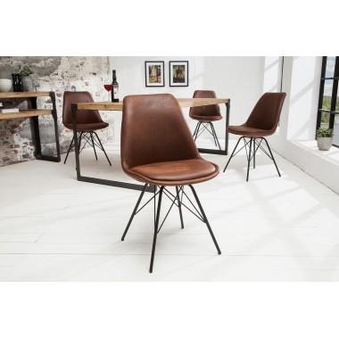 Krzesło SCANDINAVIA RETRO antyczna kawa / 38088
