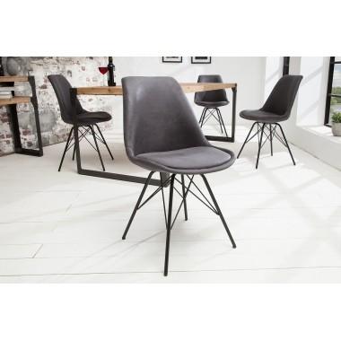Krzesło SCANDINAVIA RETRO antyczny szary / 38089
