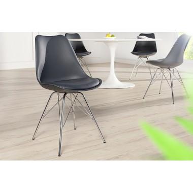 Krzesło SCANDINAVIA RETRO szary / 38090