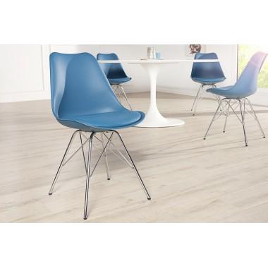 Krzesło SCANDINAVIA RETRO niebieskie / 38091