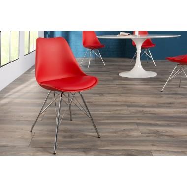 Krzesło SCANDINAVIA RETRO czerwony / 37936