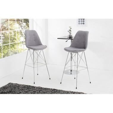 Krzesło barowe / Hoker SCANDINAVIA RETRO szare / 37557
