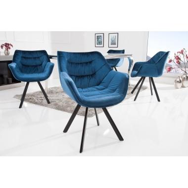 Krzesło DUTCH COMFORT aksamitny niebieski / 38597