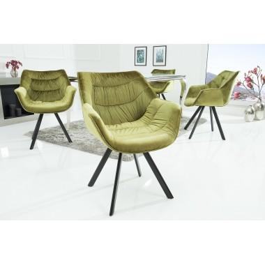 Krzesło DUTCH COMFORT aksamitny zielony / 38599