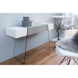 Konsola ONYX 120cm biały beton / 38141