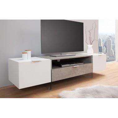 TV Komoda Onyx 160cm biały beton / 38142