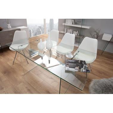 Biurko / Stolik ONYX 160cm biały beton / 38143