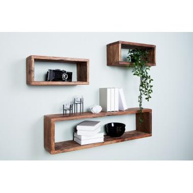 Półka ścienna HEMINGWAY zestaw 3 drewna z recyklingu / 38304