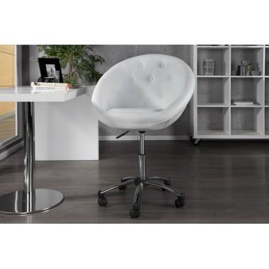 Fotel COUTURE 90-100cm biały chrom / 15144