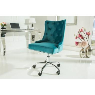 Krzesło biurowe VICTORIAN turkusowe / 38792