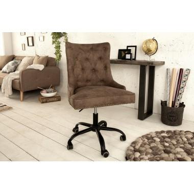 Krzesło biurowe VICTORIAN brązowy opalizujący / 38793