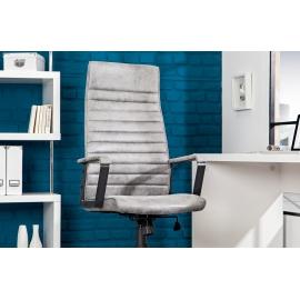 Krzesło biurowe LAZIO jasny szary vintage / 37076