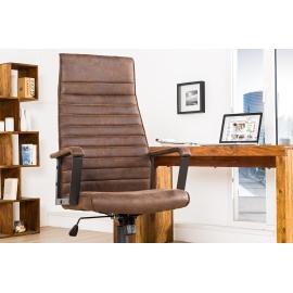 Krzesło biurowe LAZIO brązowy vintage / 37075