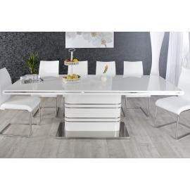 Stół ATLANTIS biały wysoki połysk 160-220 cm / 21943