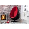 Fotel SPACE EGG czarny czerwony / 1135