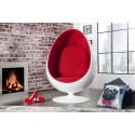 Fotel SPACE EGG biało czerwony / 760