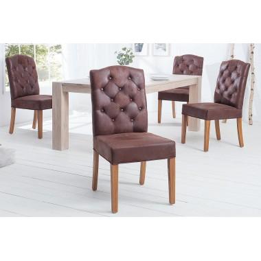 Krzesło CASTLE COFFE z pikowaniem chesterfield / 37877
