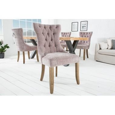 Krzesło CASTLE Taupe aksamit różowo szaro fioletowy taupe/ 38589