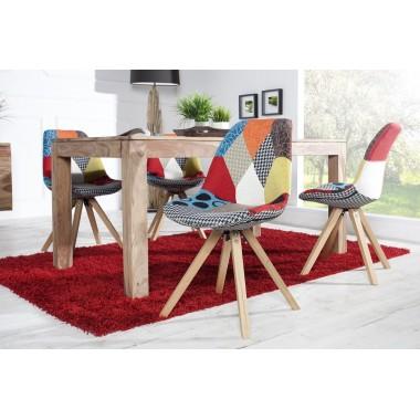 Krzesło SCANDINAVIA Patchwork kolorowe/ 35714