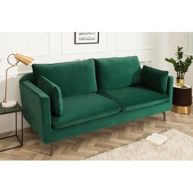 Sofa FAMOUS 3 osobowa 210cm zielony aksamit / 39025