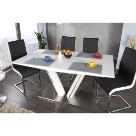 Stół VALENCIA 160-220cm biały z możliwością przedłużenia / 21944