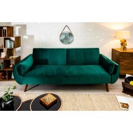 Sofa rozkładana DIVANI 215cm rozkładana zielony aksamit/ 39030