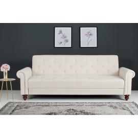 Sofa MAISON BELLE 225cm rozkładana antyczny brąz / 38535