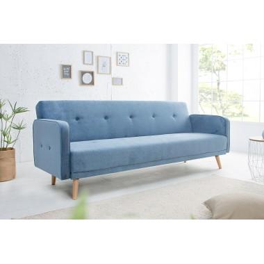 Sofa rozkładana SCANDINAVIA 210cm niebieska/ 38441