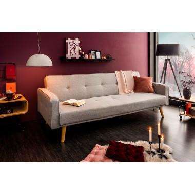 Sofa rozkładana SCANDINAVIA 210cm jasno szary / 39022