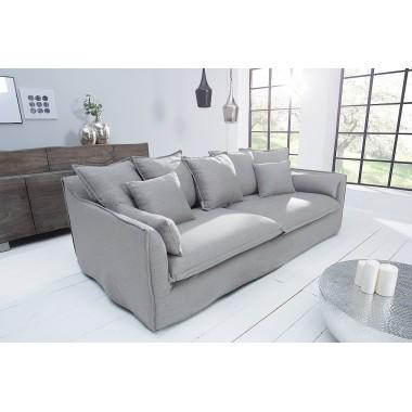 HEAVEN Sofa 3 osobowa lniana szara / 38936