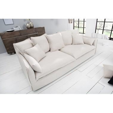 HEAVEN Sofa 3 osobowa lniana naturalna / 22689