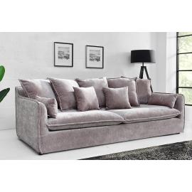 Sofa HEAVEN 3 osobowa  aksamitna ciemno szara / 38570