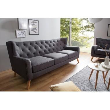 Sofa HYGGE 3 osobowa 210cm antracyt / 38325