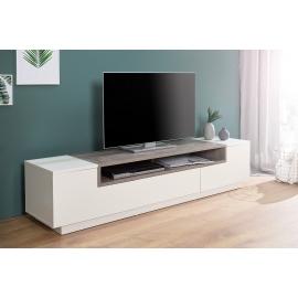 Komoda / Szafka  TV LOFT 180 cm biały beton / 37527