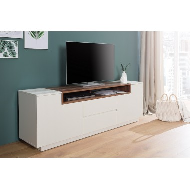 Komoda / Szafka TV LOFT 180 cm biały orzech / 37528