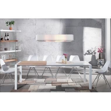 Stół X7 135-175-215cm biały - dąb / 36194
