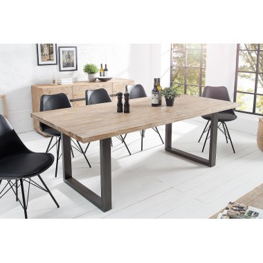 Stół WOTAN 160cm akacjowy szary tekowy / 37596