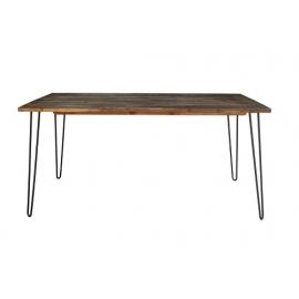 Stół SPIDER 80cm vintage brązowy akacja / 38886