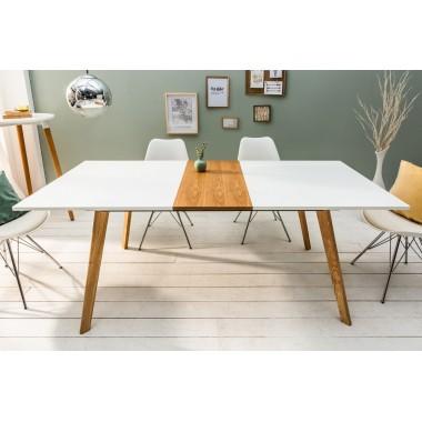 Stół SCANDINAVIA 160-200 cm biały dąb rozkładany / 38950