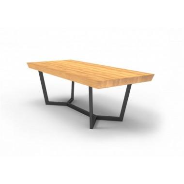 Stół PALERMO Mia 160cm x 100cm x 75cm Drewniany blat