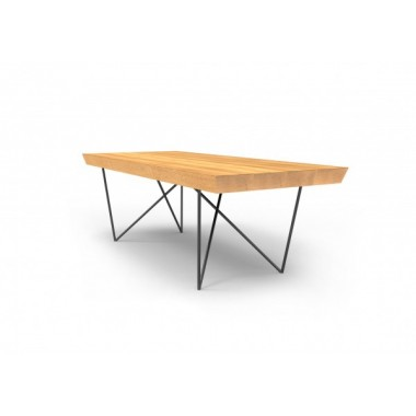 Stół BERGAMO Mia 160cm x 100cm x 75cm Drewniany blat