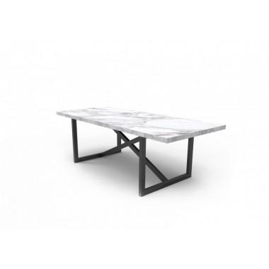 Stół ASCOLI Mia 160cm x 100cm x 75cm marmurowy blat