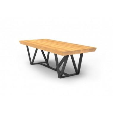 Stół MILANO Mia 160cm x 100cm x 75cm Drewniany blat