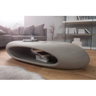 Stolik kawowy ORGANIC II z włókna szklanego beton szary / 38145