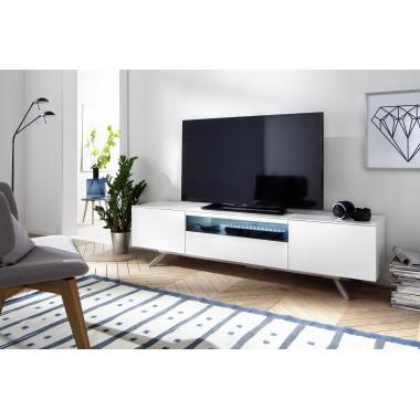 Szafka TV LENIA 185cm biała LED / 37823