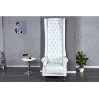 HERITAGE ROYAL Chesterfield Fotel biały z cyrkoniami / 18533