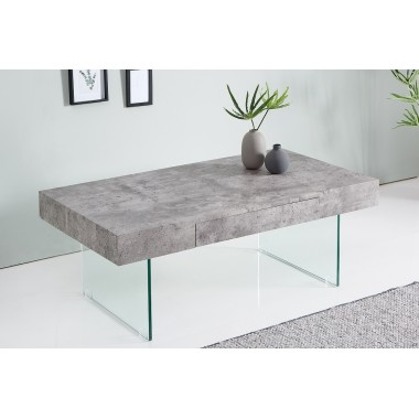 Stolik kawowy FLOATING beton szkło 110 cm / 38101