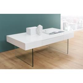 Stolik kawowy FLOATING biały szkło 110 cm / 38100