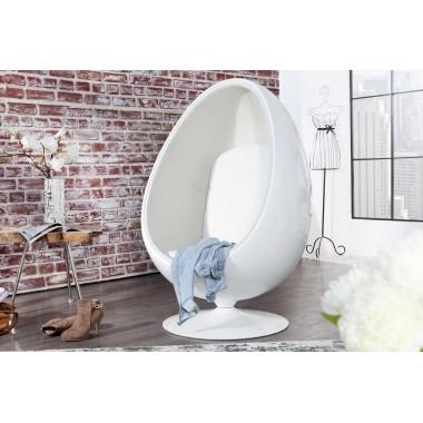 Fotel SPACE EGG biało biały / 15536